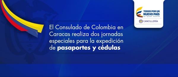 El Consulado de Colombia en Caracas realiza dos jornadas especiales para la expedición de pasaportes y cédulas
